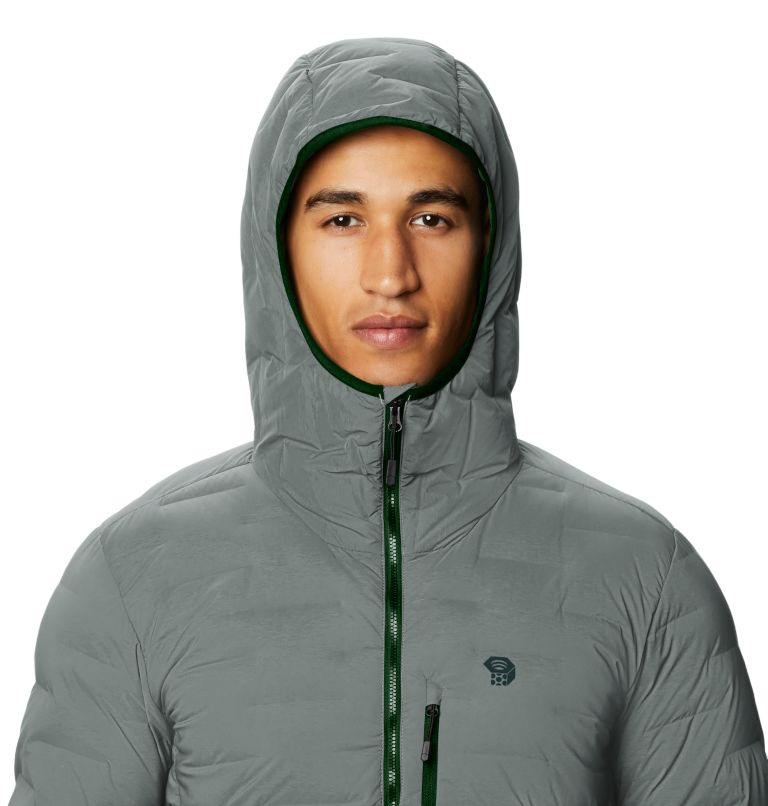Super/DS™ Stretchdown Hooded Jacket | 339 | L Men's Super/DS™ Stretchdown Hooded Jacket, Wet Stone, a2