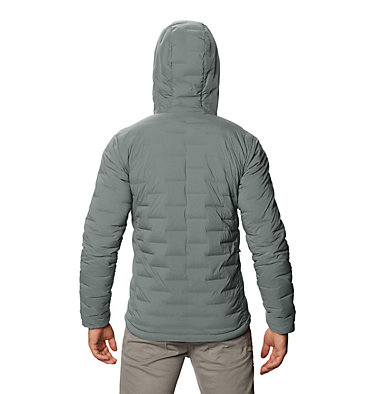 Men's Super/DS™ Stretchdown Hooded Jacket Super/DS™ Stretchdown Hooded Jacket | 629 | L, Wet Stone, back