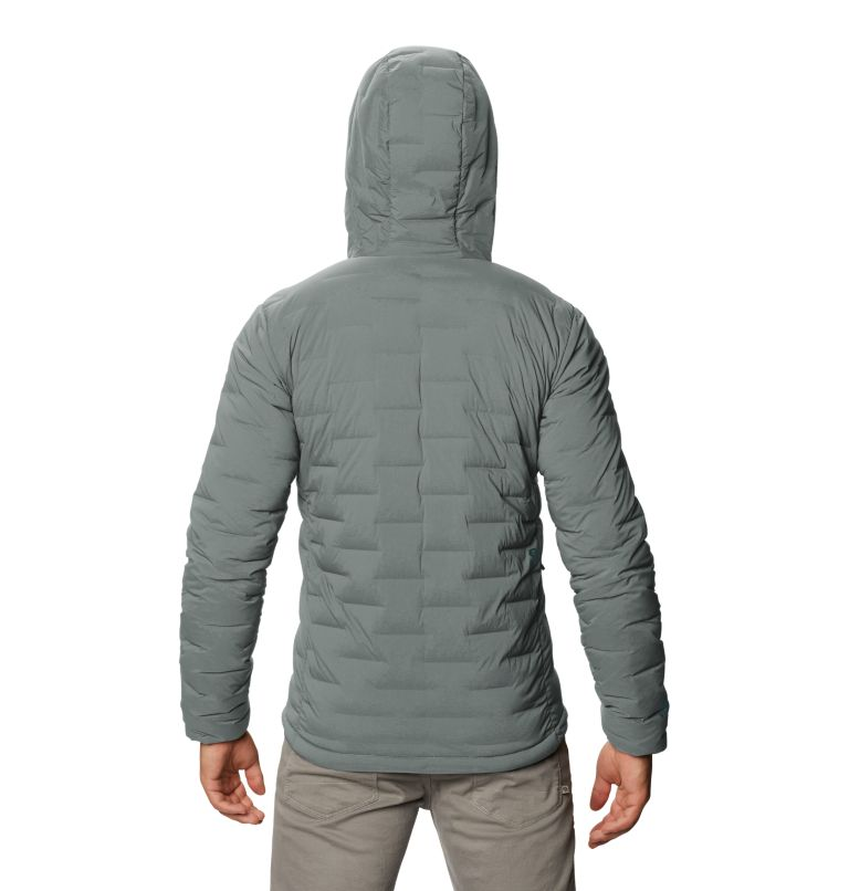 Super/DS™ Stretchdown Hooded Jacket | 339 | L Men's Super/DS™ Stretchdown Hooded Jacket, Wet Stone, back