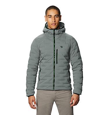 Men's Super/DS™ Stretchdown Hooded Jacket Super/DS™ Stretchdown Hooded Jacket | 629 | L, Wet Stone, front