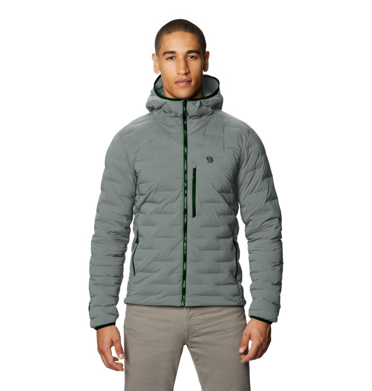 Super/DS™ Stretchdown Hooded Jacket | 339 | L Men's Super/DS™ Stretchdown Hooded Jacket, Wet Stone, front