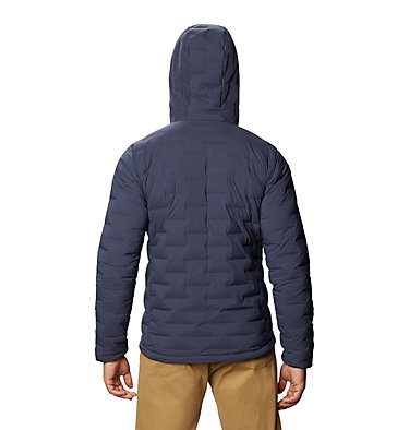 Men's Super/DS™ Stretchdown Hooded Jacket Super/DS™ Stretchdown Hooded Jacket | 629 | L, Dark Zinc, back