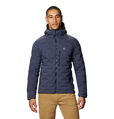 Men's Super/DS™ Stretchdown Hooded Jacket Super/DS™ Stretchdown Hooded Jacket | 629 | L, Dark Zinc, front