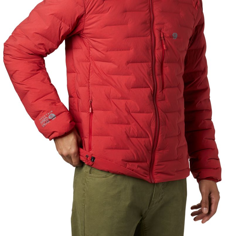 Super/DS™ Stretchdown Hooded Jacket | 603 | XXL Men's Super/DS™ Stretchdown Hooded Jacket, Dark Brick, a1