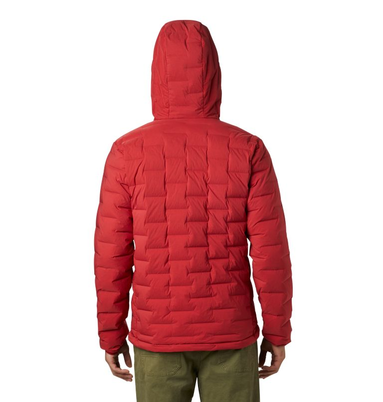 Super/DS™ Stretchdown Hooded Jacket | 603 | XXL Men's Super/DS™ Stretchdown Hooded Jacket, Dark Brick, back