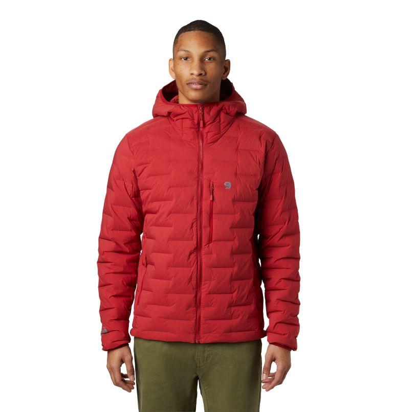 Super/DS™ Stretchdown Hooded Jacket | 603 | M Men's Super/DS™ Stretchdown Hooded Jacket, Dark Brick, front