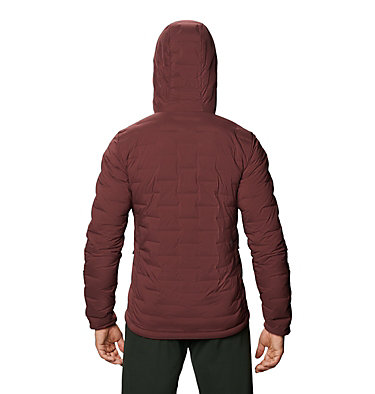 Men's Super/DS™ Stretchdown Hooded Jacket Super/DS™ Stretchdown Hooded Jacket | 629 | L, Washed Raisin, back