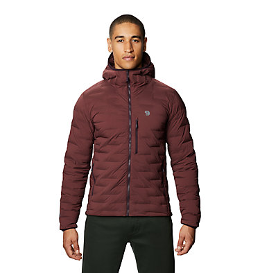 Men's Super/DS™ Stretchdown Hooded Jacket Super/DS™ Stretchdown Hooded Jacket | 629 | L, Washed Raisin, front