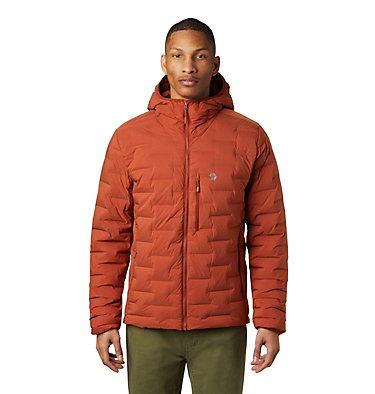 Men's Super/DS™ Stretchdown Hooded Jacket Super/DS™ Stretchdown Hooded Jacket | 629 | L, Rusted, front