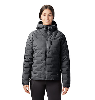 Women's Super/DS™ Stretchdown Hooded Jacket Super/DS™ Stretchdown Hooded Jacket | 599 | L, Dark Storm, front
