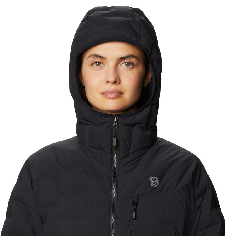 Super/DS™ Stretchdown Hooded Jacket | 010 | S Women's Super/DS™ Stretchdown Hooded Jacket, Black, a4