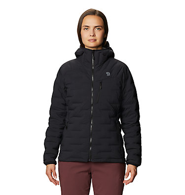 Women's Super/DS™ Stretchdown Hooded Jacket Super/DS™ Stretchdown Hooded Jacket | 599 | L, Black, front