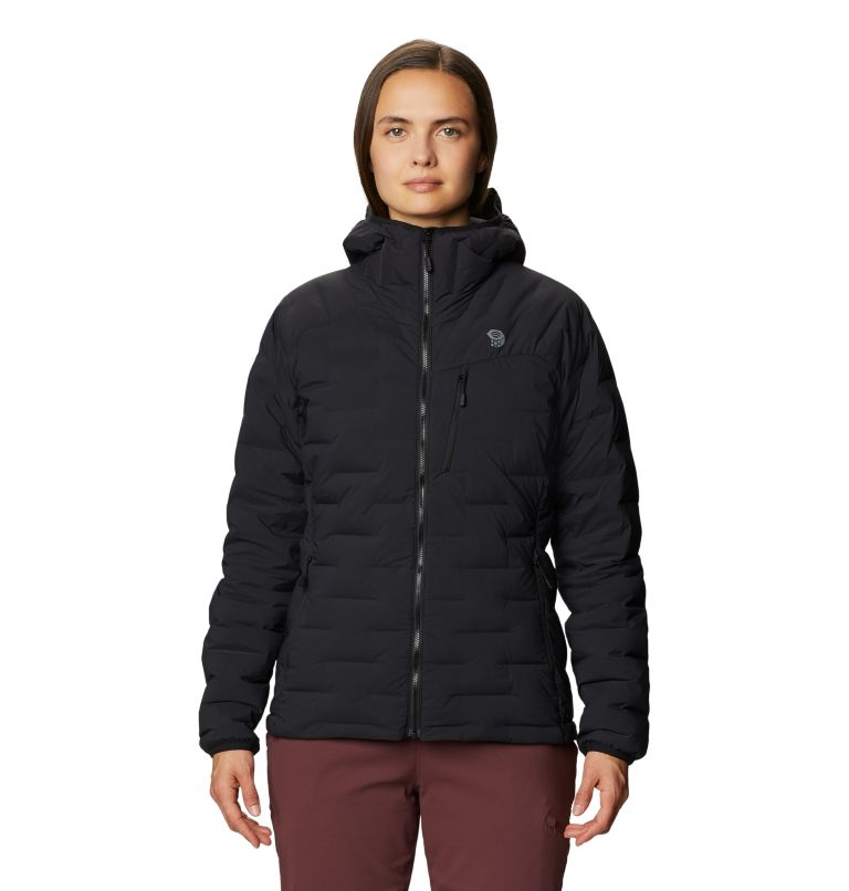 Super/DS™ Stretchdown Hooded Jacket | 010 | S Women's Super/DS™ Stretchdown Hooded Jacket, Black, front