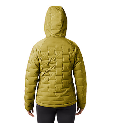 Women's Super/DS™ Stretchdown Hooded Jacket Super/DS™ Stretchdown Hooded Jacket | 599 | L, Dark Bolt, back