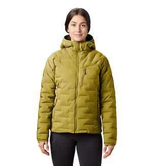 Manteau à capuchon Super/DS™ Stretchdown pour femme