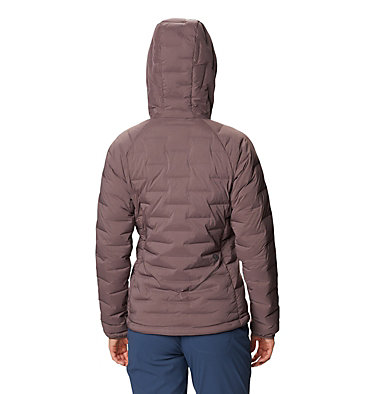 Women's Super/DS™ Stretchdown Hooded Jacket Super/DS™ Stretchdown Hooded Jacket | 599 | L, Warm Ash, back