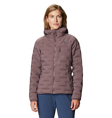 Women's Super/DS™ Stretchdown Hooded Jacket Super/DS™ Stretchdown Hooded Jacket | 599 | L, Warm Ash, front