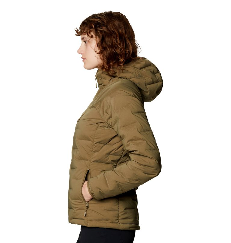 Super/DS™ Stretchdown Hooded Jacket   253   S Women's Super/DS™ Stretchdown Hooded Jacket, Raw Clay, a1