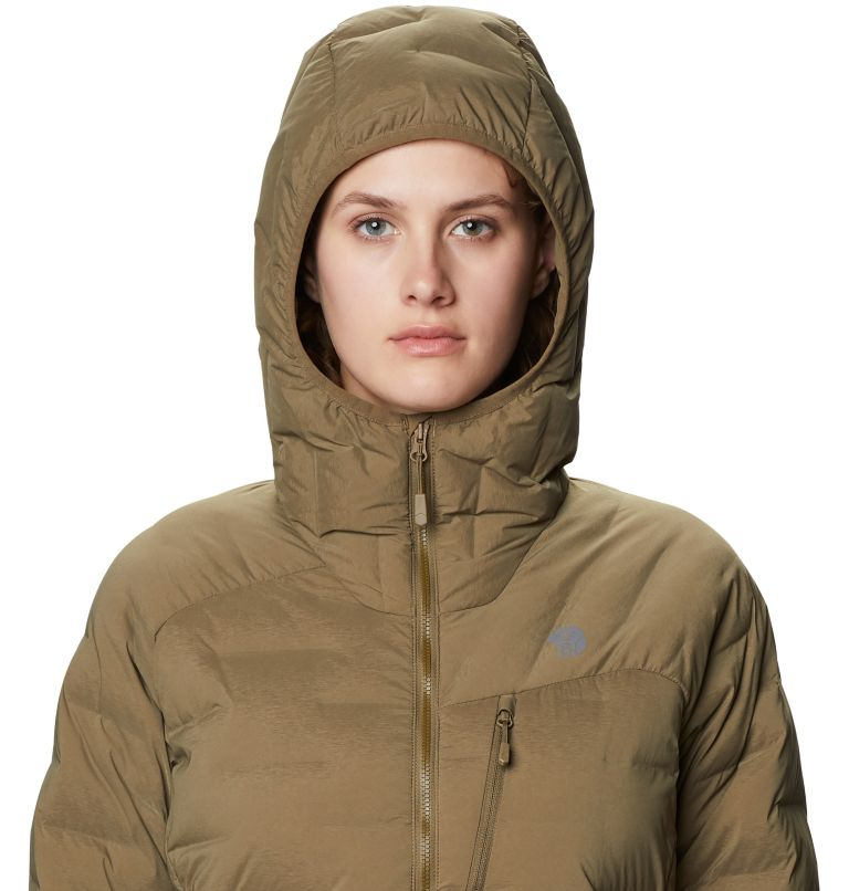Super/DS™ Stretchdown Hooded Jacket   253   S Women's Super/DS™ Stretchdown Hooded Jacket, Raw Clay, a2