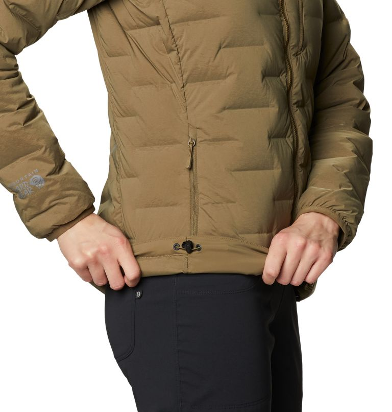 Super/DS™ Stretchdown Hooded Jacket   253   S Women's Super/DS™ Stretchdown Hooded Jacket, Raw Clay, a3