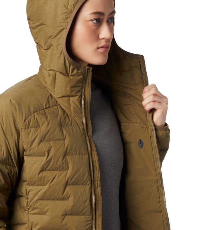 Super/DS™ Stretchdown Hooded Jacket   253   S Women's Super/DS™ Stretchdown Hooded Jacket, Raw Clay, a4