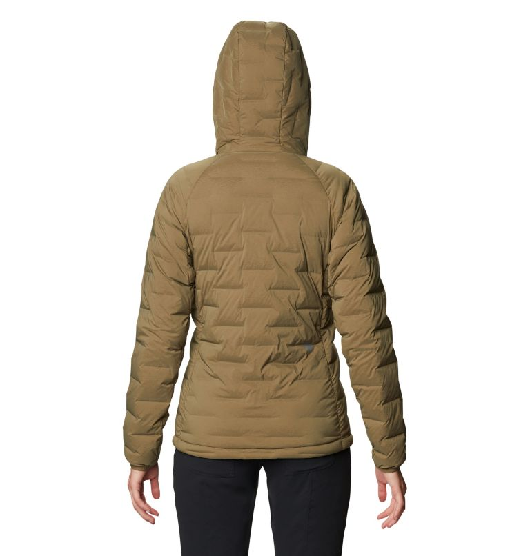 Super/DS™ Stretchdown Hooded Jacket   253   S Women's Super/DS™ Stretchdown Hooded Jacket, Raw Clay, back