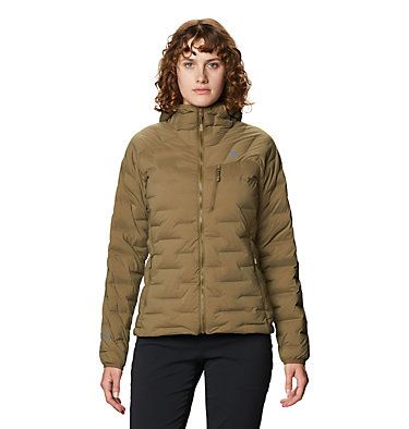 Women's Super/DS™ Stretchdown Hooded Jacket Super/DS™ Stretchdown Hooded Jacket | 599 | L, Raw Clay, front