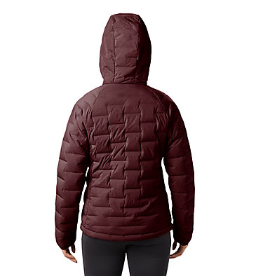 Women's Super/DS™ Stretchdown Hooded Jacket Super/DS™ Stretchdown Hooded Jacket | 599 | L, Dark Umber, back