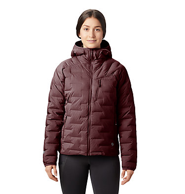 Women's Super/DS™ Stretchdown Hooded Jacket Super/DS™ Stretchdown Hooded Jacket | 599 | L, Dark Umber, front