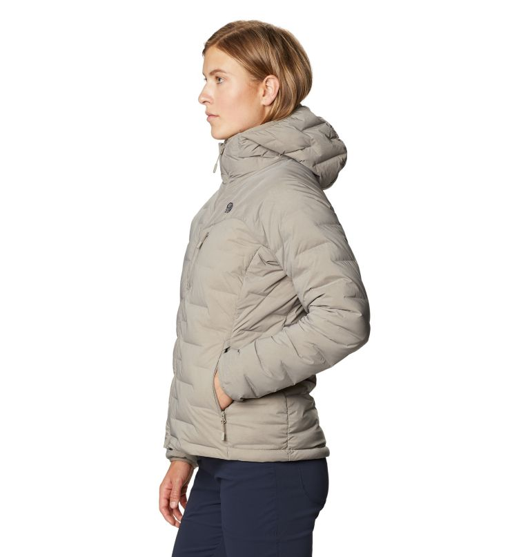 Super/DS™ Stretchdown Hooded Jacket | 262 | M Women's Super/DS™ Stretchdown Hooded Jacket, Dunes, a1