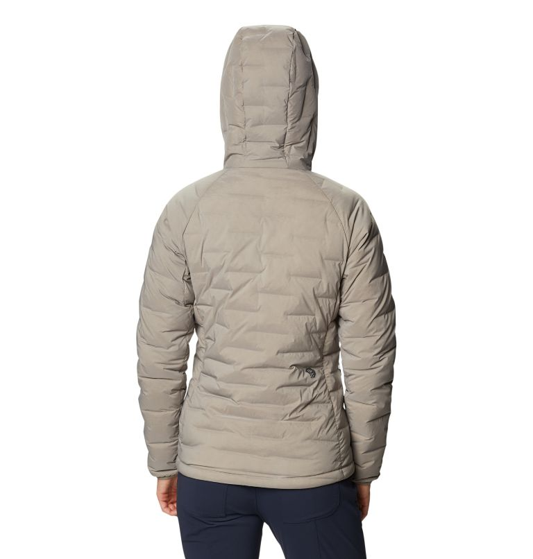 Super/DS™ Stretchdown Hooded Jacket | 262 | M Women's Super/DS™ Stretchdown Hooded Jacket, Dunes, back
