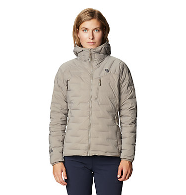 Women's Super/DS™ Stretchdown Hooded Jacket Super/DS™ Stretchdown Hooded Jacket | 599 | L, Dunes, front