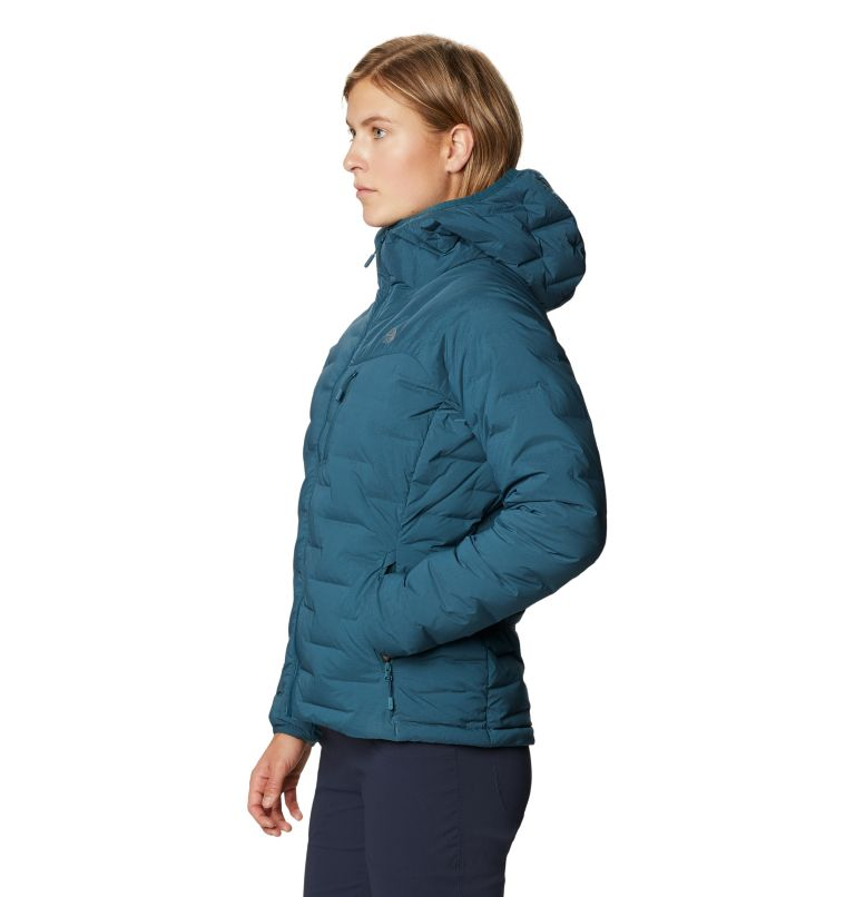 Super/DS™ Stretchdown Hooded Jacket | 324 | M Women's Super/DS™ Stretchdown Hooded Jacket, Icelandic, a1
