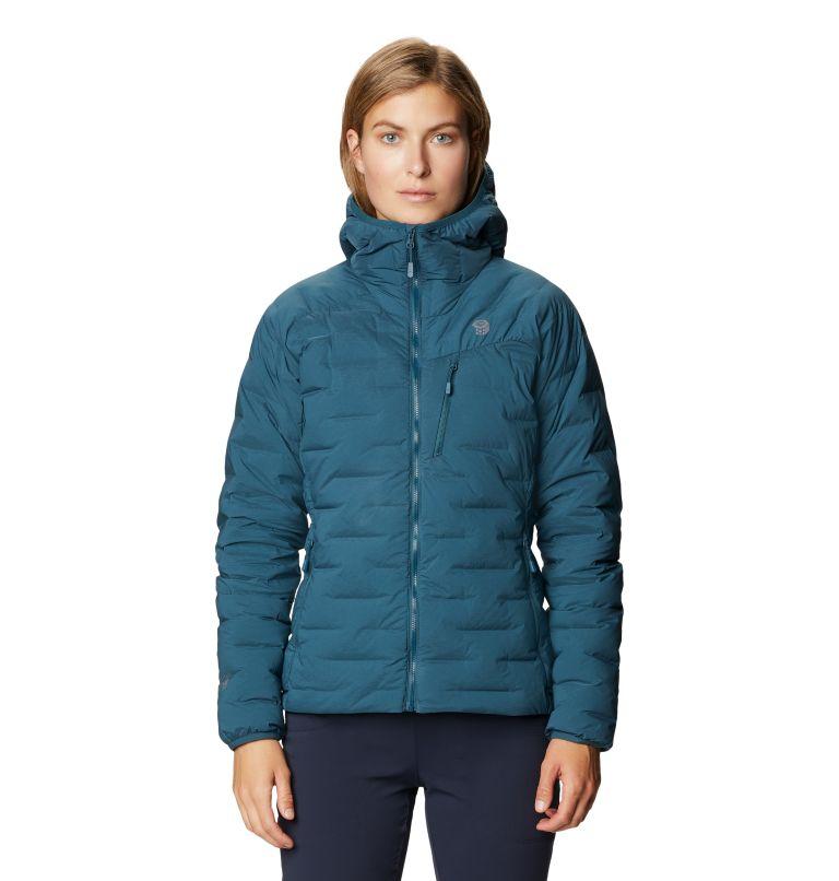 Super/DS™ Stretchdown Hooded Jacket | 324 | M Women's Super/DS™ Stretchdown Hooded Jacket, Icelandic, front