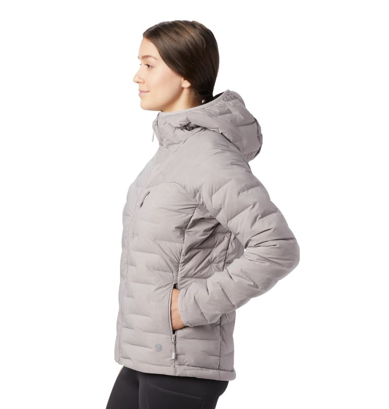 Super/DS™ Stretchdown Hooded Jacket | 514 | S Women's Super/DS™ Stretchdown Hooded Jacket, Mystic Purple, a1