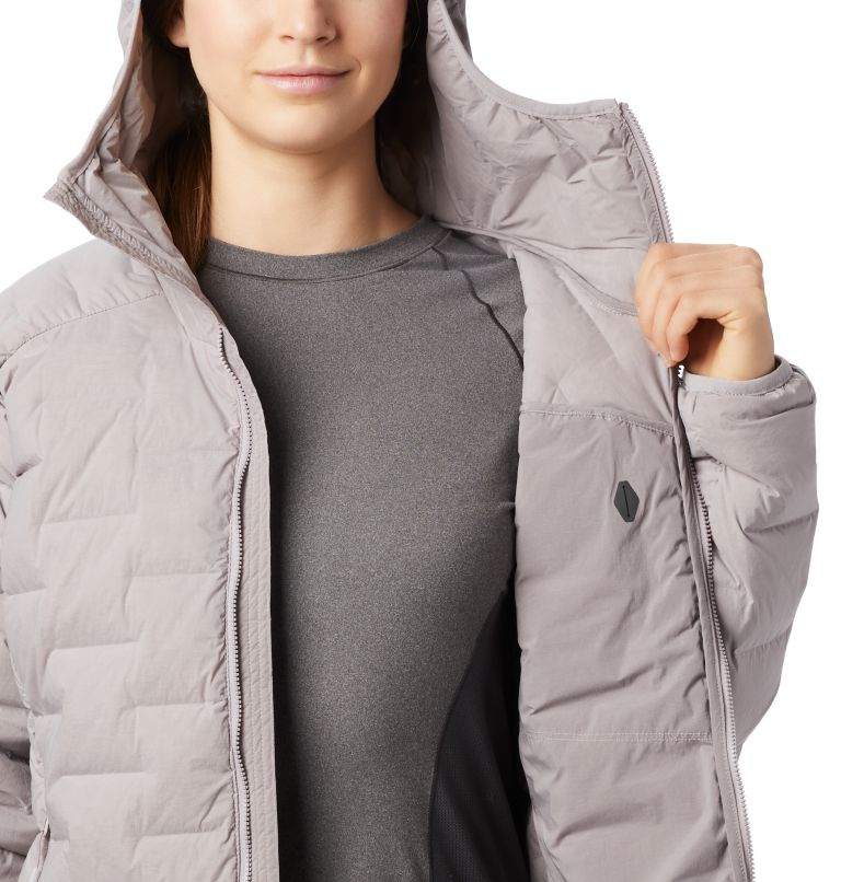 Super/DS™ Stretchdown Hooded Jacket | 514 | S Women's Super/DS™ Stretchdown Hooded Jacket, Mystic Purple, a3