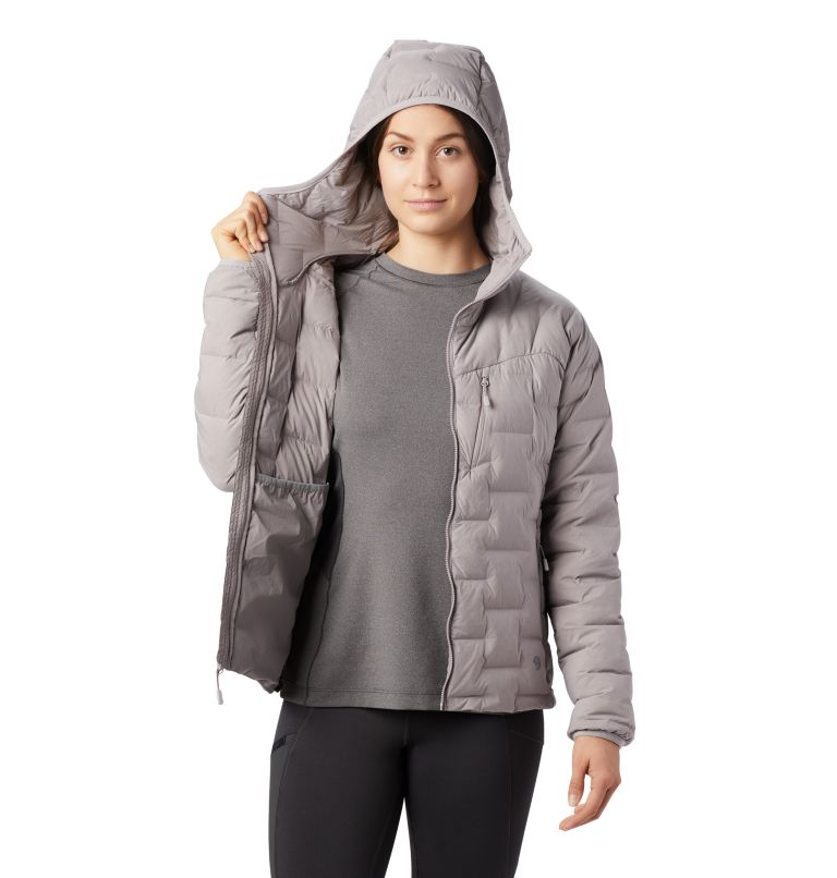 Super/DS™ Stretchdown Hooded Jacket | 514 | S Women's Super/DS™ Stretchdown Hooded Jacket, Mystic Purple, a4