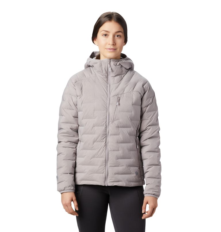 Super/DS™ Stretchdown Hooded Jacket | 514 | S Women's Super/DS™ Stretchdown Hooded Jacket, Mystic Purple, front