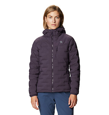 Manteau à capuchon Super/DS™ Stretchdown Femme Super/DS™ Stretchdown Hooded Jacket | 599 | L, Blurple, front