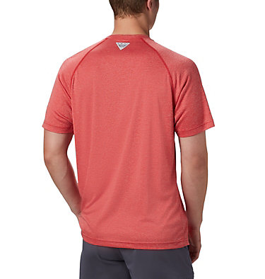 Men's PFG Terminal Tackle™ Heather Short Sleeve Shirt Terminal Tackle™ Heather SS Shirt | 696 | L, Red Spark Heather, White Logo, back