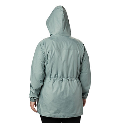 Women's Auroras Wake™ III Mid Jacket - Plus Size Auroras Wake™ III Mid Jacket | 191 | 1X, Light Lichen Emboss, back