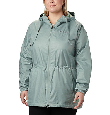 Women's Auroras Wake™ III Mid Jacket - Plus Size Auroras Wake™ III Mid Jacket | 191 | 1X, Light Lichen Emboss, front