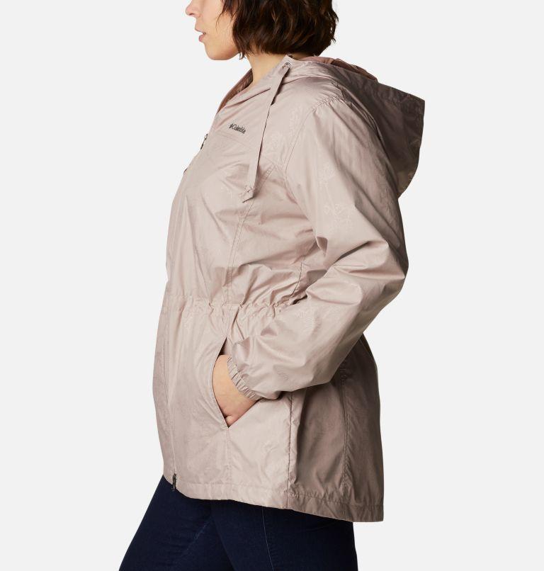 Auroras Wake™ III Mid Jacket | 649 | 1X Women's Auroras Wake™ III Mid Jacket - Plus Size, Mauve Vapor Art Bouquet Emboss, a1