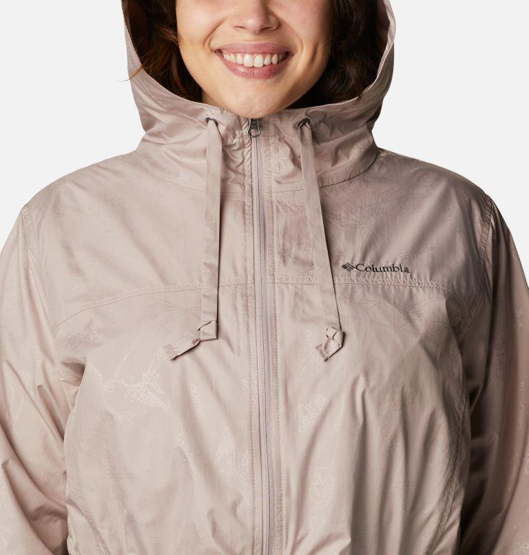 Auroras Wake™ III Mid Jacket | 649 | 1X Women's Auroras Wake™ III Mid Jacket - Plus Size, Mauve Vapor Art Bouquet Emboss, a2