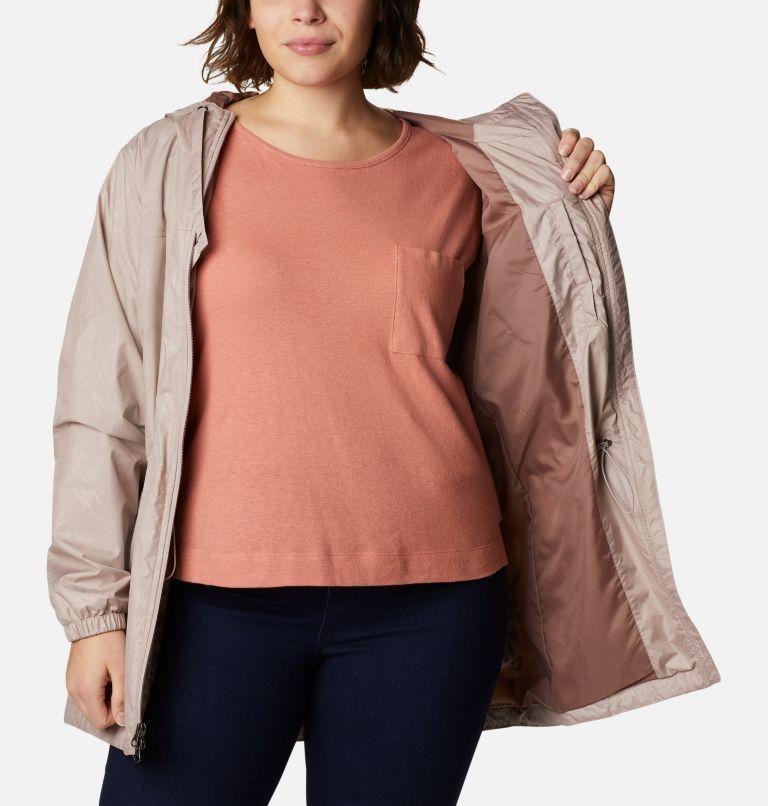 Auroras Wake™ III Mid Jacket | 649 | 1X Women's Auroras Wake™ III Mid Jacket - Plus Size, Mauve Vapor Art Bouquet Emboss, a3