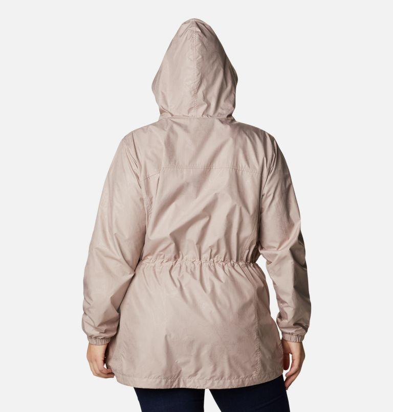 Auroras Wake™ III Mid Jacket | 649 | 1X Women's Auroras Wake™ III Mid Jacket - Plus Size, Mauve Vapor Art Bouquet Emboss, back