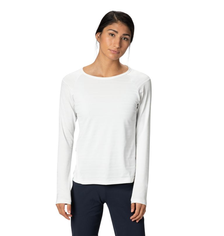 Mighty Stripe™ Long Sleeve T | 102 | L Women's Mighty Stripe™ Long Sleeve T-Shirt, Fogbank, front
