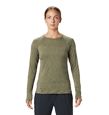 Women's Mighty Stripe™ Long Sleeve T-Shirt Mighty Stripe™ Long Sleeve T | 102 | L, Light Army, front