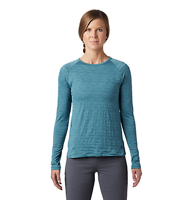 Women's Mighty Stripe™ Long Sleeve T-Shirt Mighty Stripe™ Long Sleeve T | 102 | L, Washed Turq, front