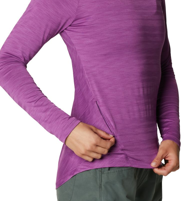 Mighty Stripe™ Long Sleeve T | 547 | M Women's Mighty Stripe™ Long Sleeve T-Shirt, Acai, a2